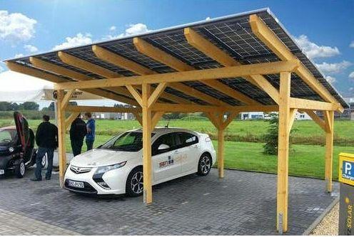 Abri de voiture solaire